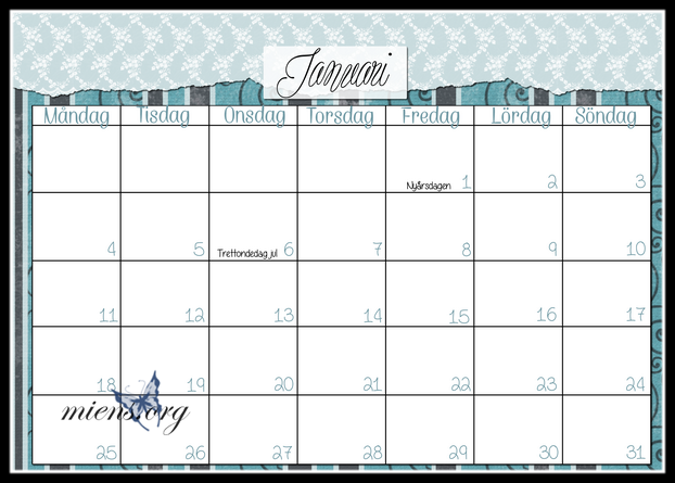 Kalender Januari 2016