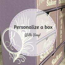 Personalize a box