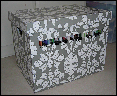 """Färdig låda som förvaring för 12"""" papper"""